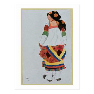 Carte Postale Costumez la conception pour Girl rurale, 1922 (Li