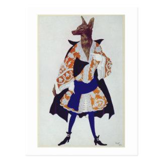 Carte Postale Costumez la conception pour le loup, de la beauté
