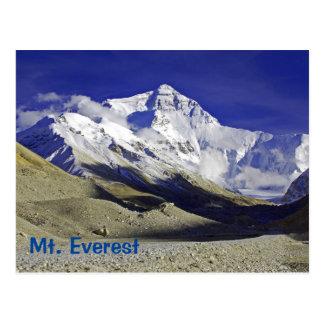 Carte Postale Côté de Tibétain de camp de base du mont Everest