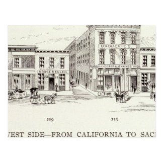 Carte Postale Côté Ouest avant la Californie et Sacramento