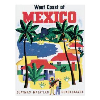 Carte Postale Côte ouest de cru du Mexique