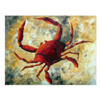 Carte postale côtière de crabe