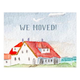 Carte Postale Cottage d'aquarelle par la mer, nous nous sommes