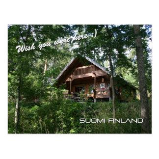 Carte Postale Cottage d'été de la Finlande