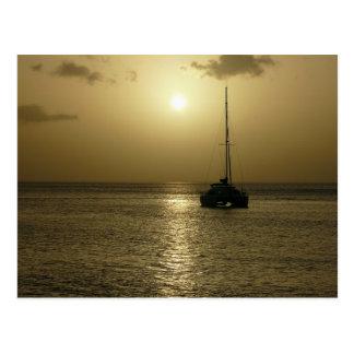 Carte Postale Coucher de Soleil (coucher du soleil) - la