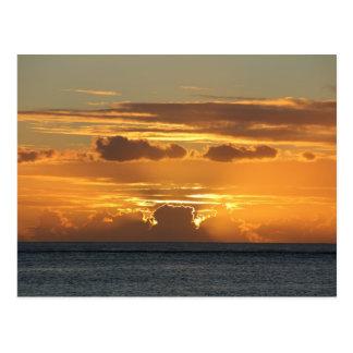Carte Postale Coucher de soleil - Sunset - Ile Maurice