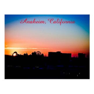 Carte Postale Coucher du soleil à Anaheim