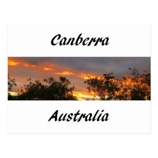 Carte Postale Coucher du soleil à Canberra
