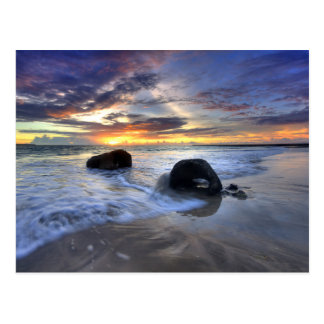 Carte Postale Coucher du soleil à la plage de Kedonganan