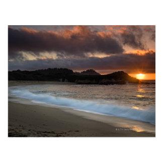 Carte Postale Coucher du soleil à la plage de monastère, Carmel,