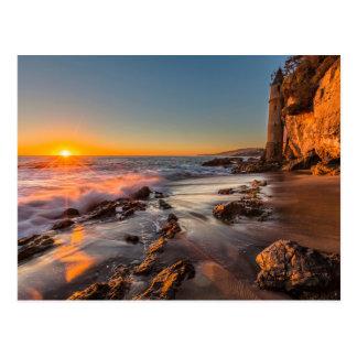 Carte Postale Coucher du soleil à la plage de Victoria