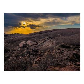 Carte Postale Coucher du soleil à la roche enchantée