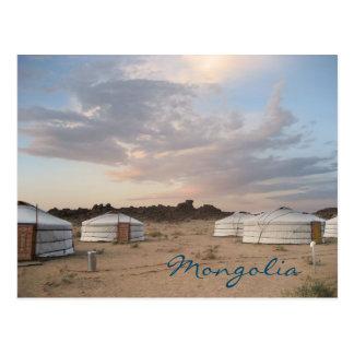 Carte Postale Coucher du soleil au-dessus de camp de Ger en