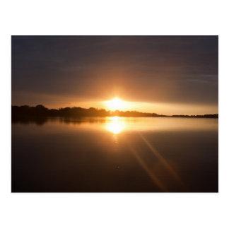 Carte Postale Coucher du soleil au-dessus de la rivière Zambesi