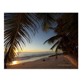 Carte Postale Coucher du soleil au-dessus de l'Océan Indien vu