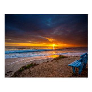 Carte Postale Coucher du soleil au-dessus de l'océan pacifique