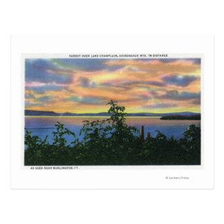Carte Postale Coucher du soleil au-dessus du lac, Adirondack Mts