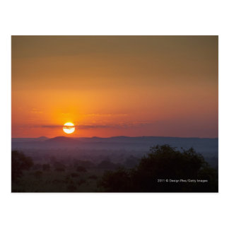 Carte Postale Coucher du soleil au-dessus du paysage africain