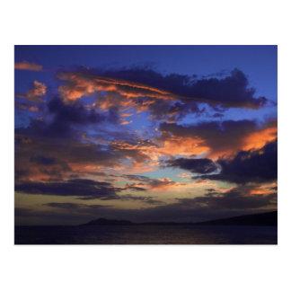 Carte Postale Coucher du soleil chez Hawaï Kai