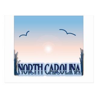 Carte Postale Coucher du soleil d'aerographe de la Caroline du