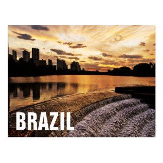 Carte Postale Coucher du soleil dans la ville Londrina