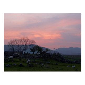 Carte Postale Coucher du soleil dans le comté de Connemara