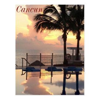 Carte Postale Coucher du soleil de Cancun