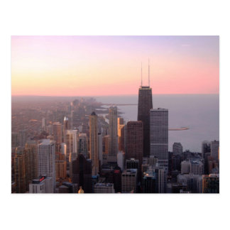 Carte Postale Coucher du soleil de Chicago