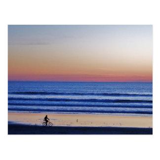 Carte Postale Coucher du soleil de Crusier de plage de Santa