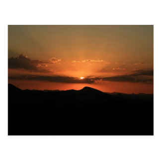 Carte Postale Coucher du soleil de désert