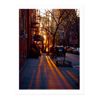 Carte Postale COUCHER DU SOLEIL de GREENWICH VILLAGE (c) 2012
