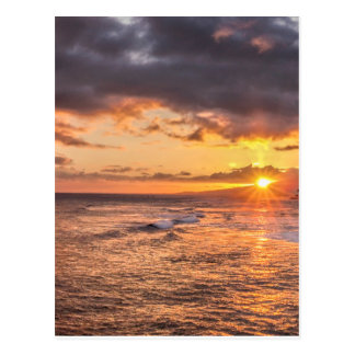 Carte Postale Coucher du soleil de Honolulu