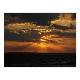 Carte Postale Coucher du soleil de la Chypre