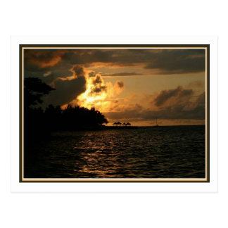 Carte Postale Coucher du soleil de la Jamaïque