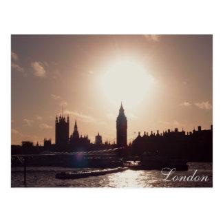 Carte Postale Coucher du soleil de Londres
