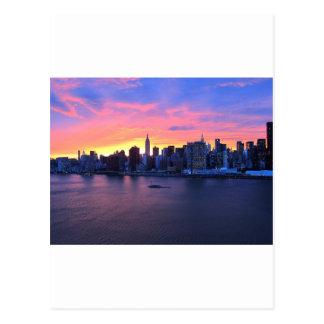 Carte Postale Coucher du soleil de New York City