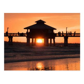 Carte Postale Coucher du soleil de pilier de Fort Myers