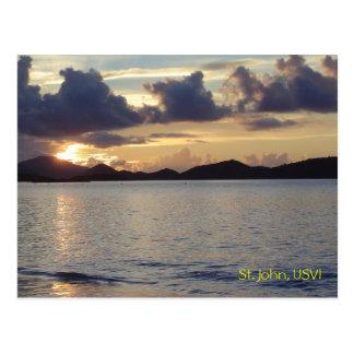 Carte Postale Coucher du soleil de St John