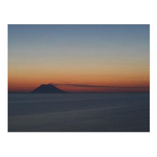Carte Postale Coucher du soleil de Stromboli