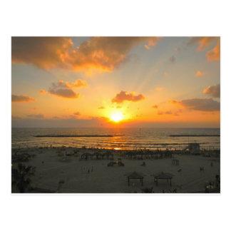 Carte Postale Coucher du soleil de Tel Aviv