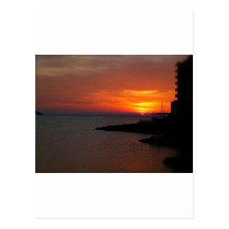 Carte Postale Coucher du soleil d'Ibiza