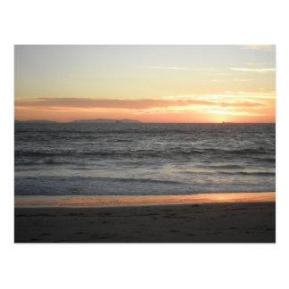 Carte Postale Coucher du soleil d'île de Catalina