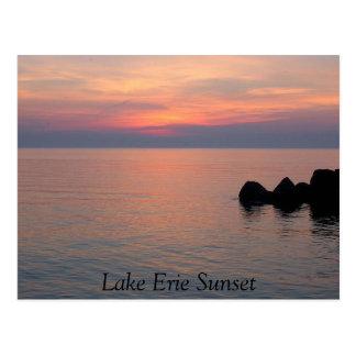 Carte Postale Coucher du soleil du lac Érié