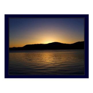 Carte Postale Coucher du soleil du lac Tahoe