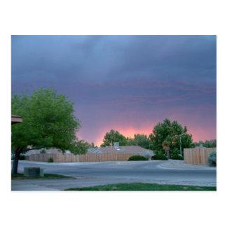 Carte Postale Coucher du soleil du Nouveau Mexique