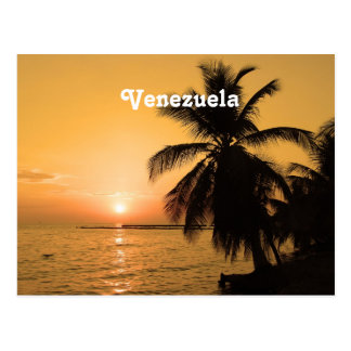Carte Postale Coucher du soleil du Venezuela