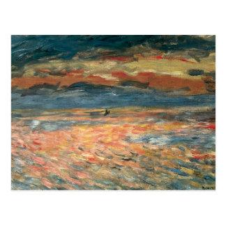 Carte Postale Coucher du soleil en mer par Pierre Renoir,