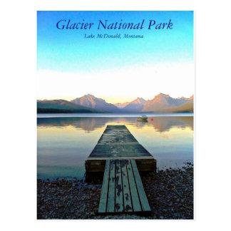 Carte Postale Coucher du soleil en parc national de glacier