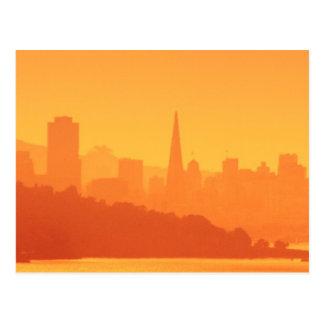 Carte Postale Coucher du soleil lumineux de San Francisco