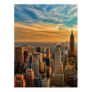 Carte Postale Coucher du soleil magnifique à Manhattan, New York